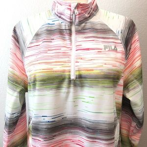 Fila Sport  Quarter Zip Jacket Unicorn striped